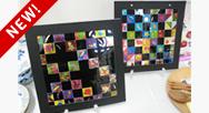 キッズ絵画教室「カラーセロファンで作るステンドモザイク」